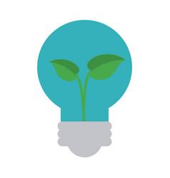 plant inside lightbulb clean energy icon image vector image