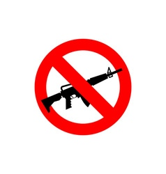 Stop machine gun It is forbidden to shoot Frozen vector image