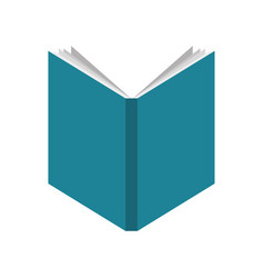 text book school isolated icon vector image vector image