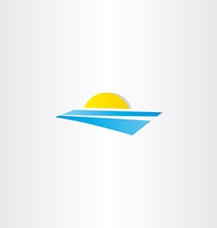 tourism summer sun water logo element vector image vector image