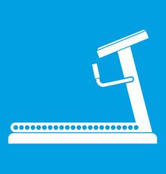Treadmill icon white vector