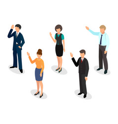 voting people isometric style vector image vector image