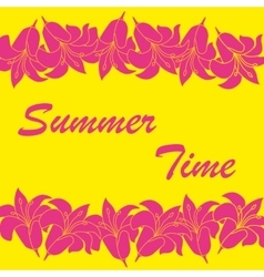 Abstract summer time background vector