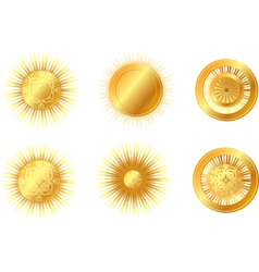 Golden suns vector