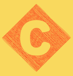 letter c sign design template element red vector image