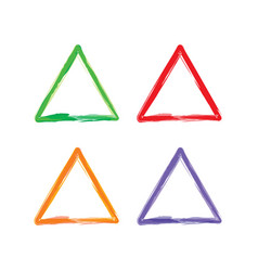 Triangle color abstract shape frame art vector