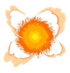 Bright explosion icon cartoon style vector