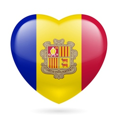 Heart icon of andorra vector