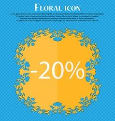 20 percent discount sign icon sale symbol special vector