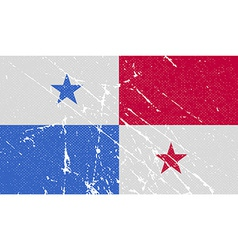 Flag of panama with old texture vector