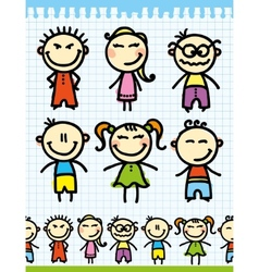 cartoon doodle kids vector image