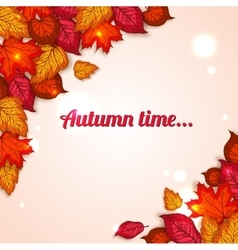 Autumn background with shining foliage autumn vector