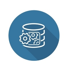 Data processing icon flat design vector