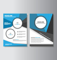 Blue brochure flyer leaflet presentation templates vector