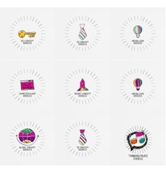 Set of hand drawn design elements in vector
