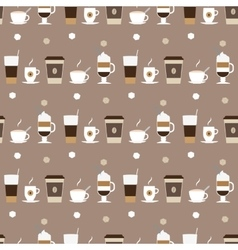 Coffee cups icons seamless pattern vector