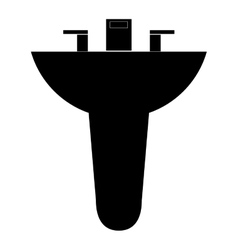 Bathroom sink icon vector