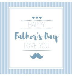 Happy fathers day hipster style card with vector