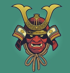 Samurai helmet vector