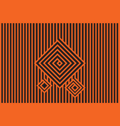 Abstract black and orange seamless pattern vector