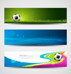 Banner headers soccer ball set design vector image