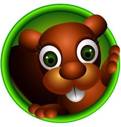 Cute squirrel head cartoon vector