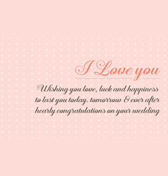 Cute style greeting card for wedding vector