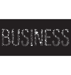 Decorative elements of the word business vector image vector image