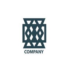 Design geometric logo for company vector
