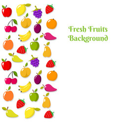 fruit banner or flyer template vector image