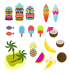 Hawaii tropic colorful clipart vector