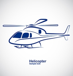 Helicopter 2 vector image
