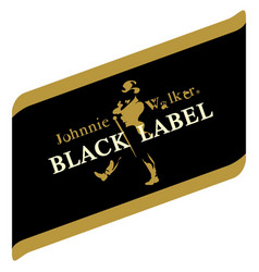 Johny walker black label image vector
