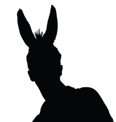 Man with donkey ears vector