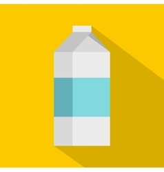 Milk icon flat style vector image vector image