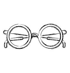 monochrome blurred silhouette of glasses icon vector image
