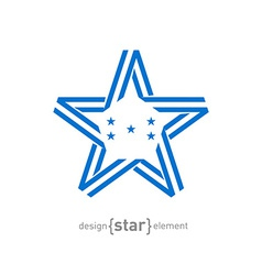 Monocrome star with honduras flag colors and vector
