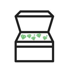 Open treasure box vector