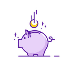 piggy bank simple vector image