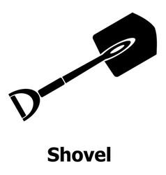 shovel icon simple black style vector image