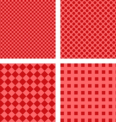 Simple red pattern set vector