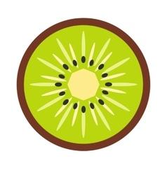 Sliced kiwi flat icon vector