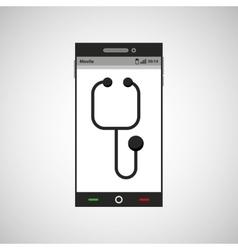 Smartphone healthcare doctor app vector