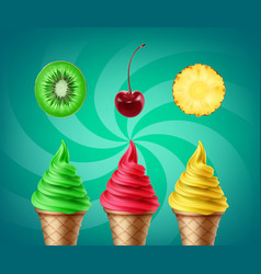 soft ice cream vector image vector image