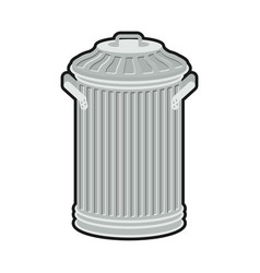 Trash can isolated wheelie bin on white vector