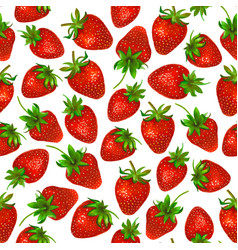 Watercolor strawberry on white background vector
