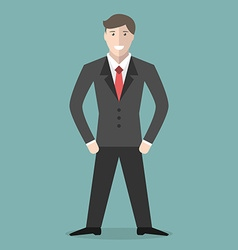 Young positive businessman vector image vector image