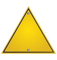 Yellow traffic sign icon vector