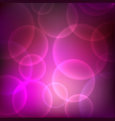 Shining pink background with light effects vector