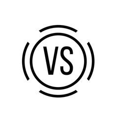 Black versus sign in circle vector
